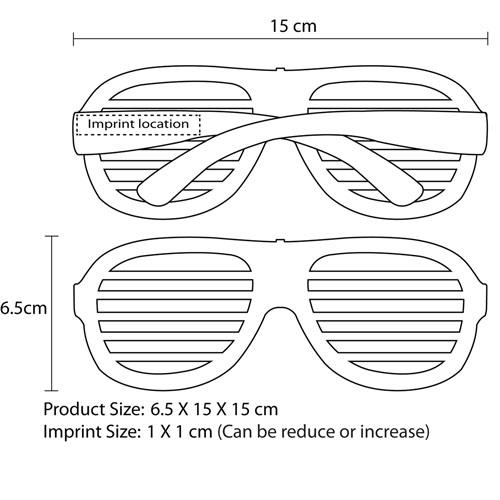 Party Shutter Light Sunglass Imprint Image