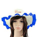 Wavy Brim Straw Hat