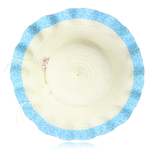 Wavy Brim Straw Hat Image 2