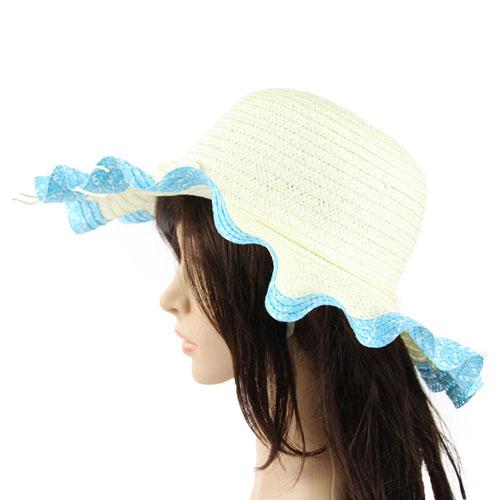 Wavy Brim Straw Hat Image 4
