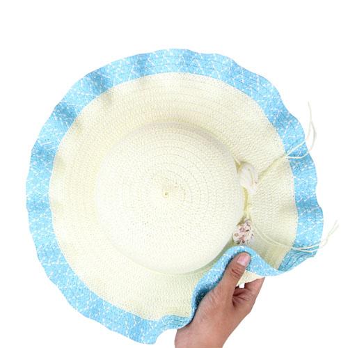 Wavy Brim Straw Hat Image 5