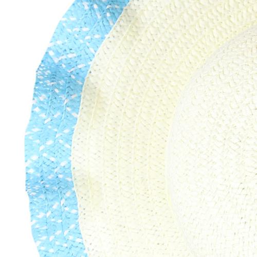 Wavy Brim Straw Hat Image 8