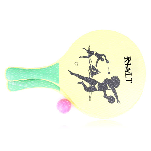 Wooden Beach Paddle Ball Set Image 1