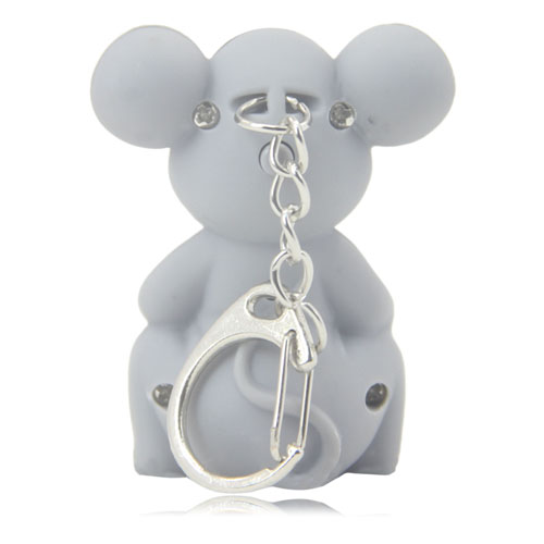 Mouse Sound Keychain With Led Light