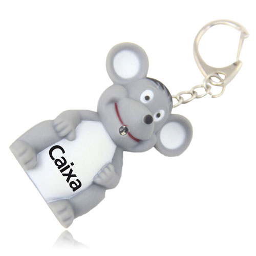 Mouse Sound Keychain With Led Light Image 2