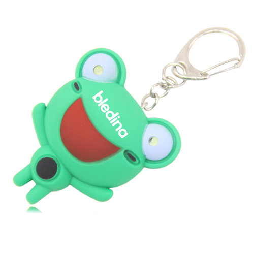 Light Frog Eyes Keychain With Sound