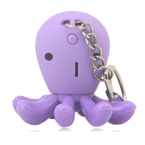 Octopus Shaped Led Keychain Image 12