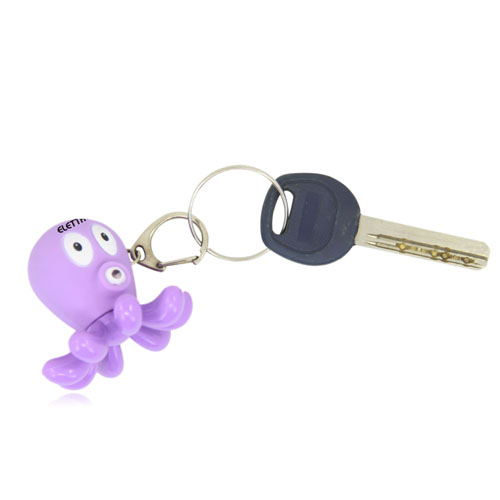 Octopus Shaped Led Keychain