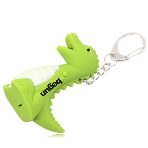 Dinosaur Led Sound Keychain Image 1