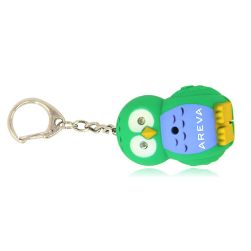 Owl Light  Keychain With Sound Image 1