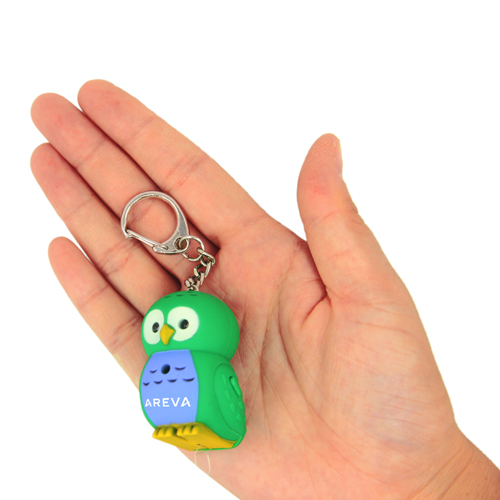 Owl Light  Keychain With Sound Image 5