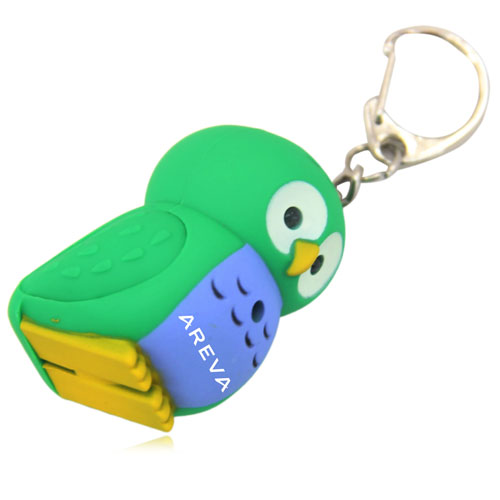 Owl Light  Keychain With Sound Image 6