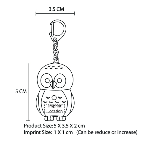 Owl Light  Keychain With Sound Imprint Image