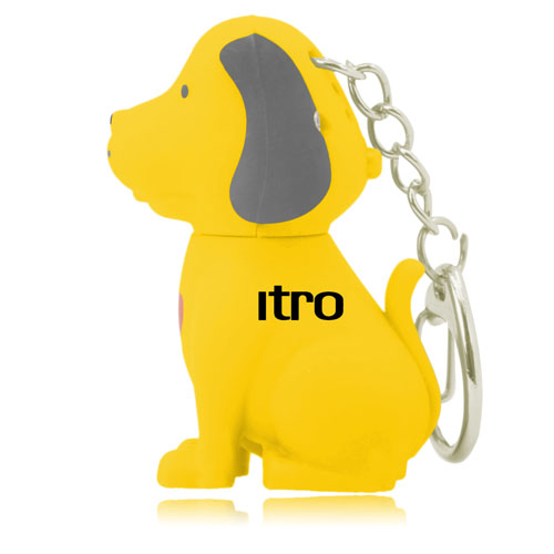 Dog Sound Keychain With Light