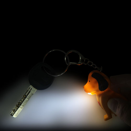 Dog Sound Keychain With Light Image 3
