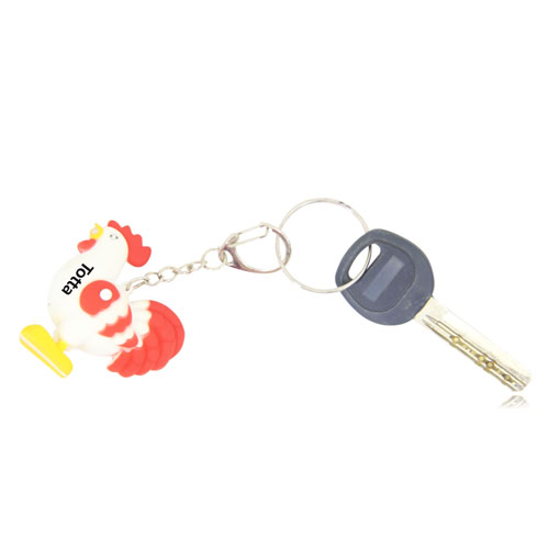 Rooster Shaped Led Sound Keychain Image 3