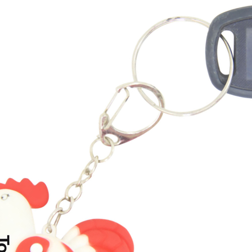 Rooster Shaped Led Sound Keychain Image 8