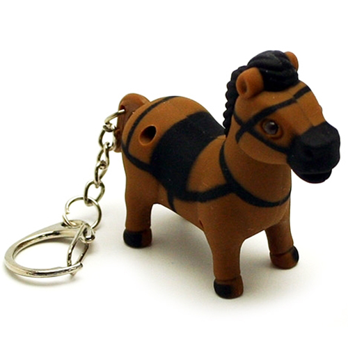 Pony Horse Shaped Light Keychain