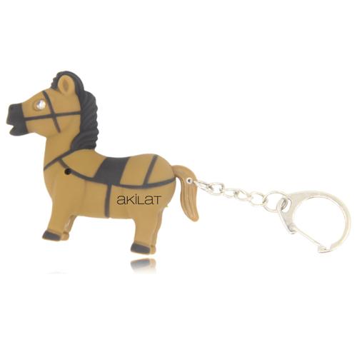 Pony Horse Shaped Light Keychain Image 1