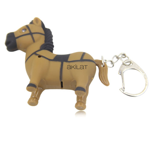 Pony Horse Shaped Light Keychain Image 2