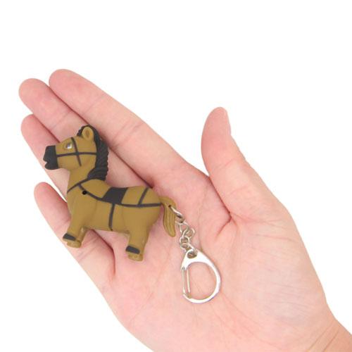 Pony Horse Shaped Light Keychain Image 5