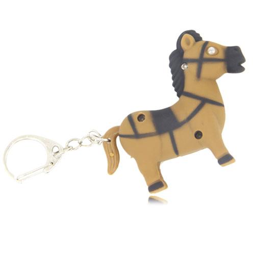 Pony Horse Shaped Light Keychain