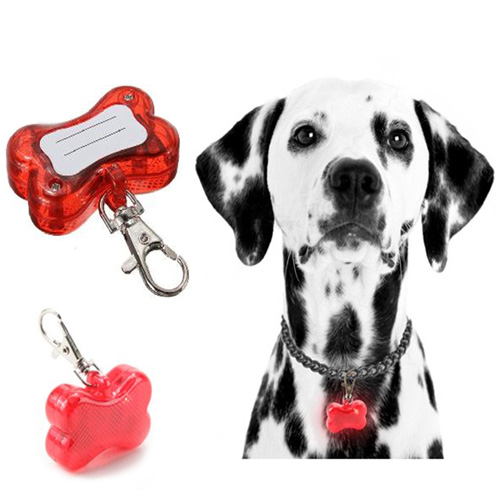 Bone Shaped Pet Tag Keychain Light