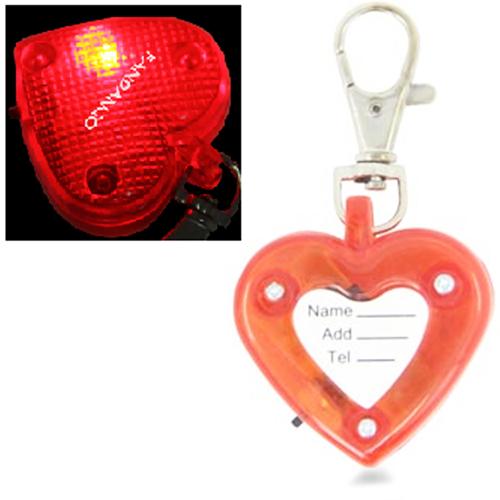 Heart Light Pet Pendant Keychain