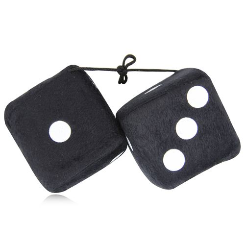 Fuzzy Rear View Mirror Dice Image 6