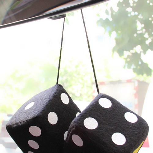 Fuzzy Rear View Mirror Dice Image 7