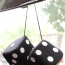Fuzzy Rear View Mirror Dice