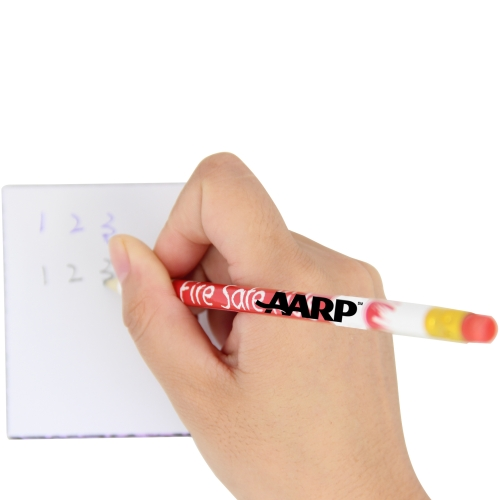 Round Pencil With Eraser Image 3
