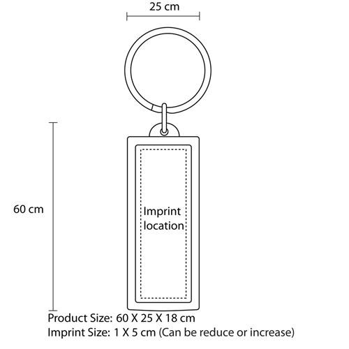 LCD Solar Keychain Keychain Imprint Image