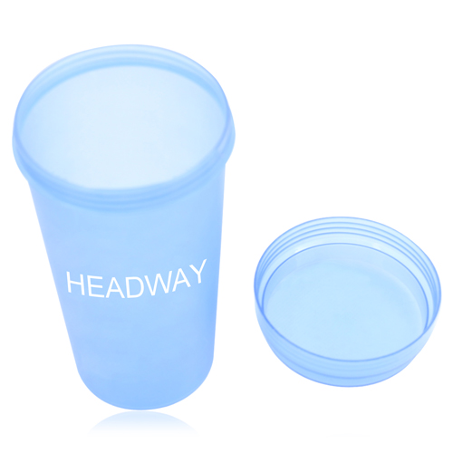 Plastic Cup With Screw Lid Image 2