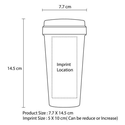 Plastic Cup With Screw Lid Imprint Image