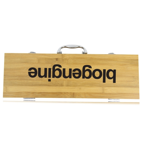 5 Piece Bbq Set In Bamboo Box Image 15