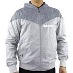Zip Front Nylon Hooded Jacket
