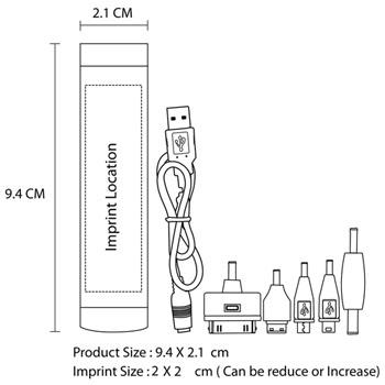 Cylinder USB Emergency Charger Bank