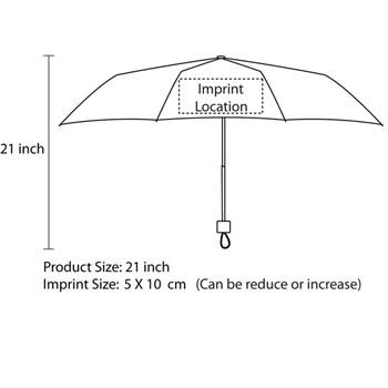 3 Fold Manual Umbrella With Strap