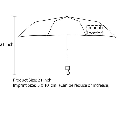 Mini Travel Umbrella In Sleeve Imprint Image