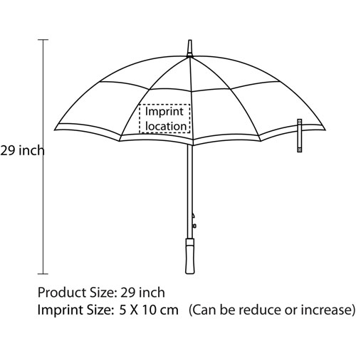 Windproof Golf Umbrella With Gauze Imprint Image