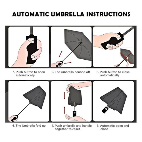 Automatic Open And Close Folding Umbrella Image 6