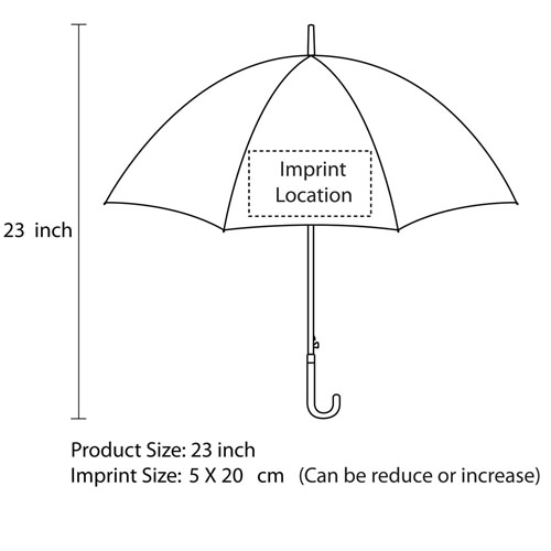 Clear Transparent Umbrella Imprint Image
