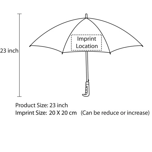 Executive Double Bone Auto-Open Straight Umbrella Imprint Image