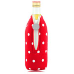 Dot Design Bottle Koozie With Zipper