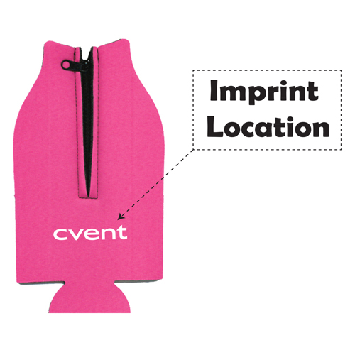 Bottle Zipper Koozie Suit Imprint Image