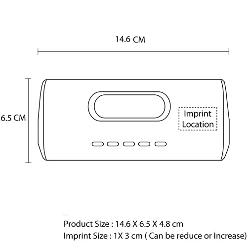 Desk MP3 Radio Speaker Imprint Image