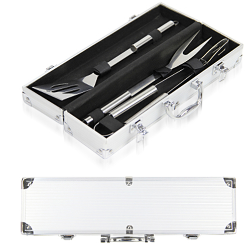 3-Piece BBQ Set In Aluminum Box