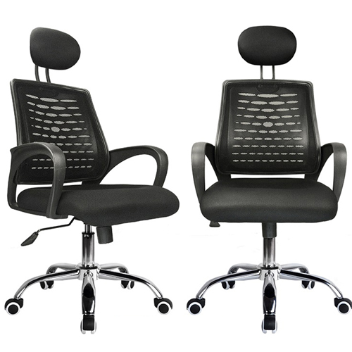 High-End Ergonomic Mesh Chair with Steel Base Image 10