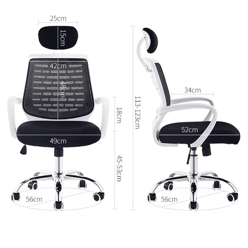 High-End Ergonomic Mesh Chair with Steel Base Image 11